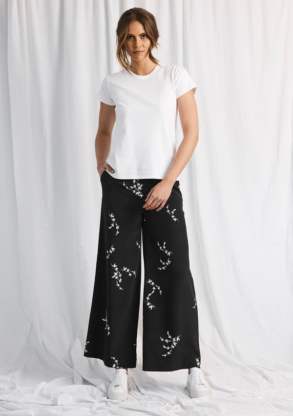 Luxe Deluxe Heart of Gold Wide Leg Pant