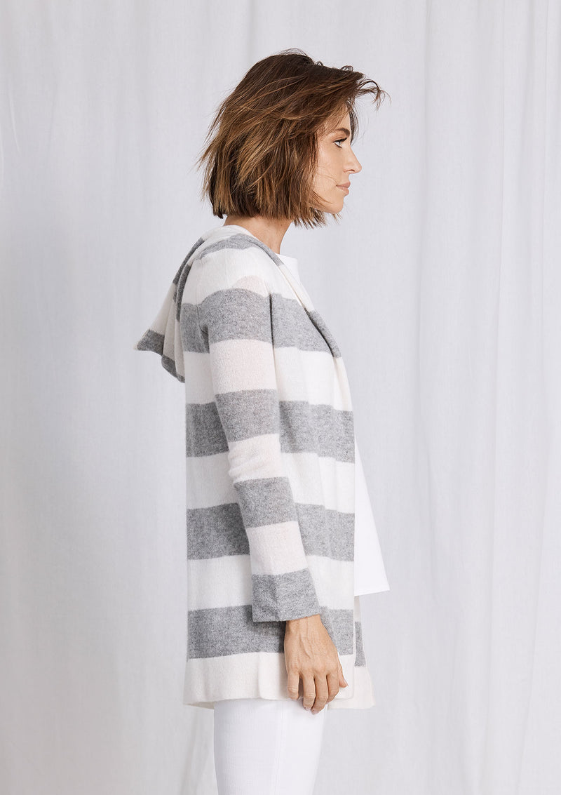 Khlassik Stripe Essential Hooded Cardigan