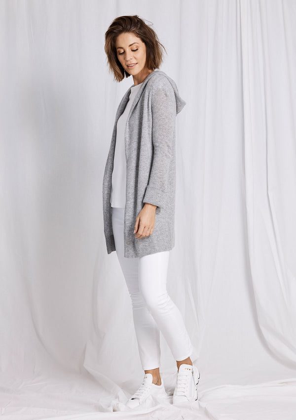 Khlassik Grey Essential Hooded Cardigan