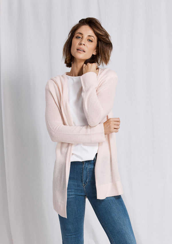 Khlassik Pink Essential Hooded Cardigan