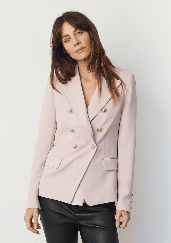 Luxe Deluxe Borderline Structured Blazer Smokey Pink