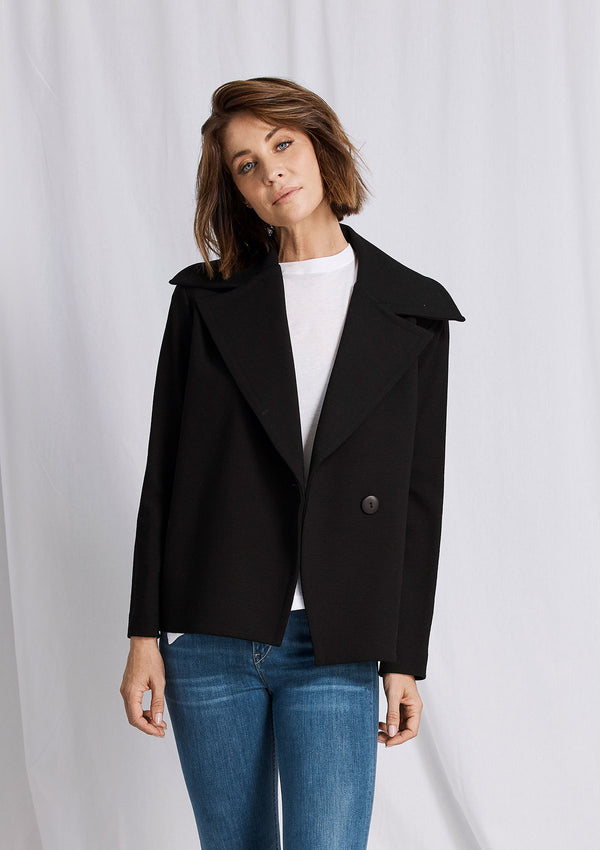 Mela Purdie Crepe Double Knit Aviator Jacket