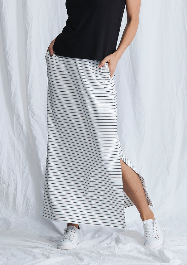 Mela Purdie Compact Knit Maxi Track Skirt