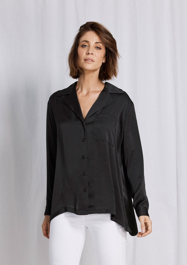 Mela Purdie Supreme Satin Smoking Shirt