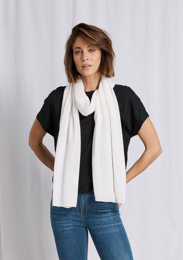Khlassik Ivory Essential Cashmere Scarf
