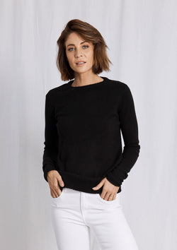 Khlassik Black Crew Neck Cashmere Sweater
