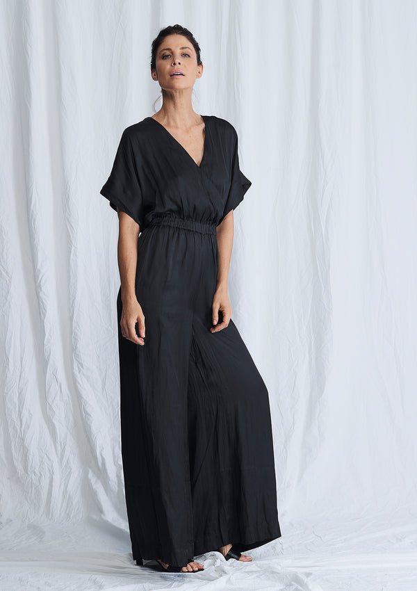 Luxe Deluxe Look Again Wide Leg Maxi Jumpsuit