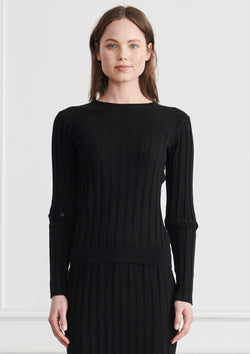 Apartment Clothing Lou Button Sleeve Ribbed Knit