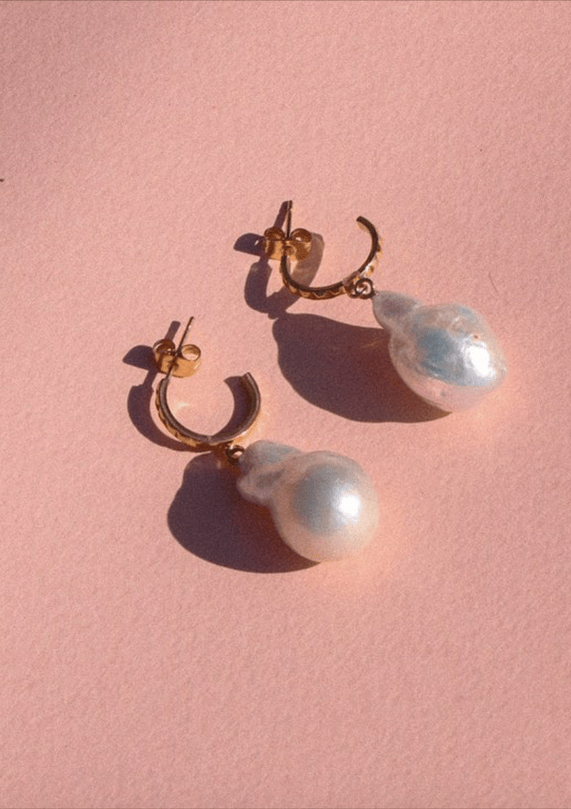 Carly Paiker Aurora Baroque Pearl Hoops