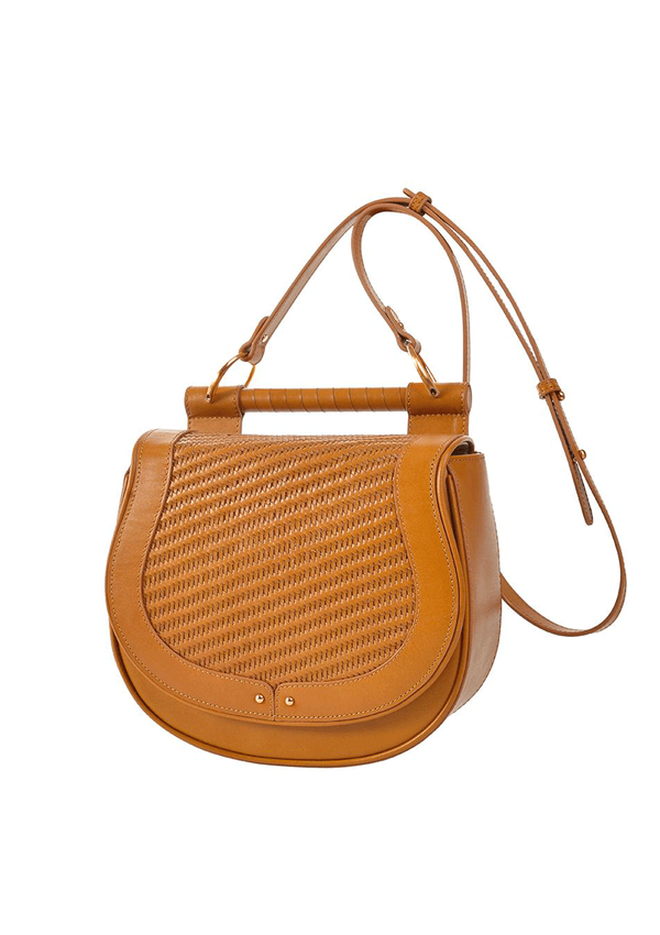 Sancia The Babylon Weaving Cognac Bag