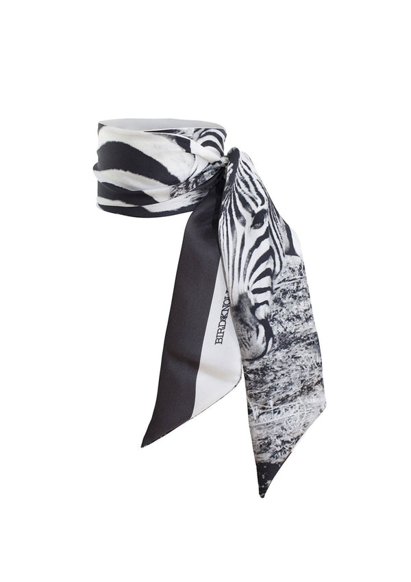 Bird & Knoll South Africa Silk Skinny Scarf