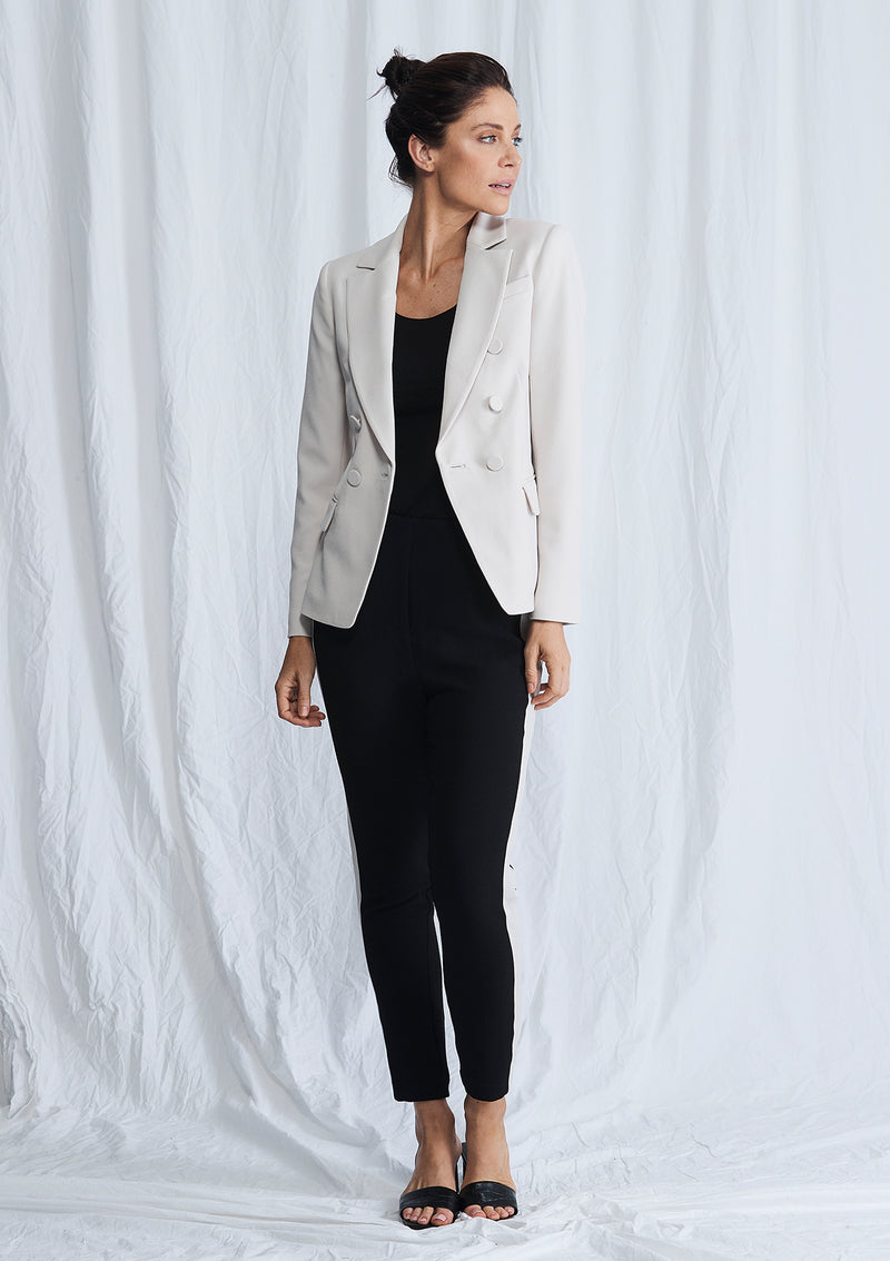 Luxe Deluxe Borderline Structured Blazer