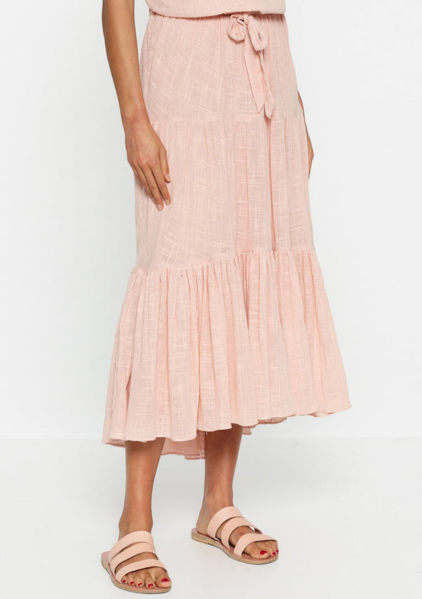 Luxe Deluxe Bahamas Gathered Midi Skirt