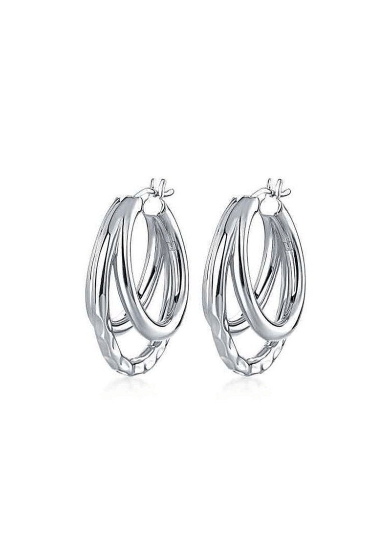 California Triple Hoop Earrings