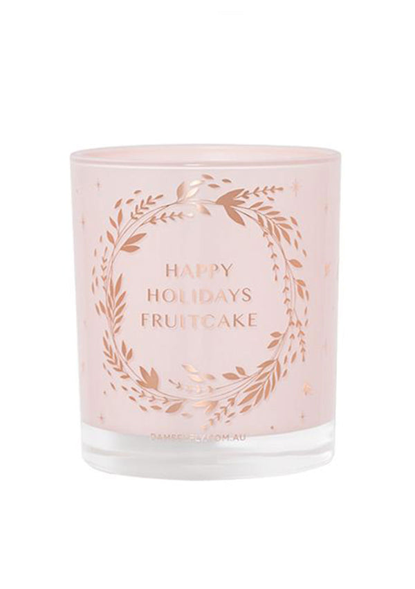Damselfly Happy Holidays Candle