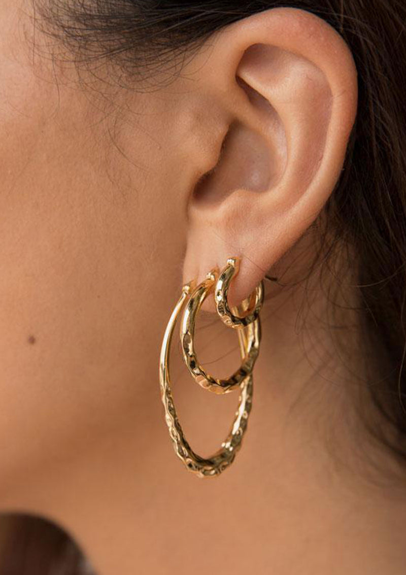 F+H Easy Ride Hammered Hoops