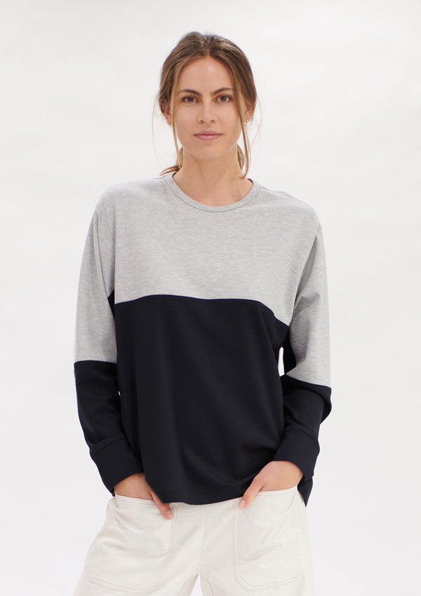Mela Purdie Compact Knit Two Tone Sweater