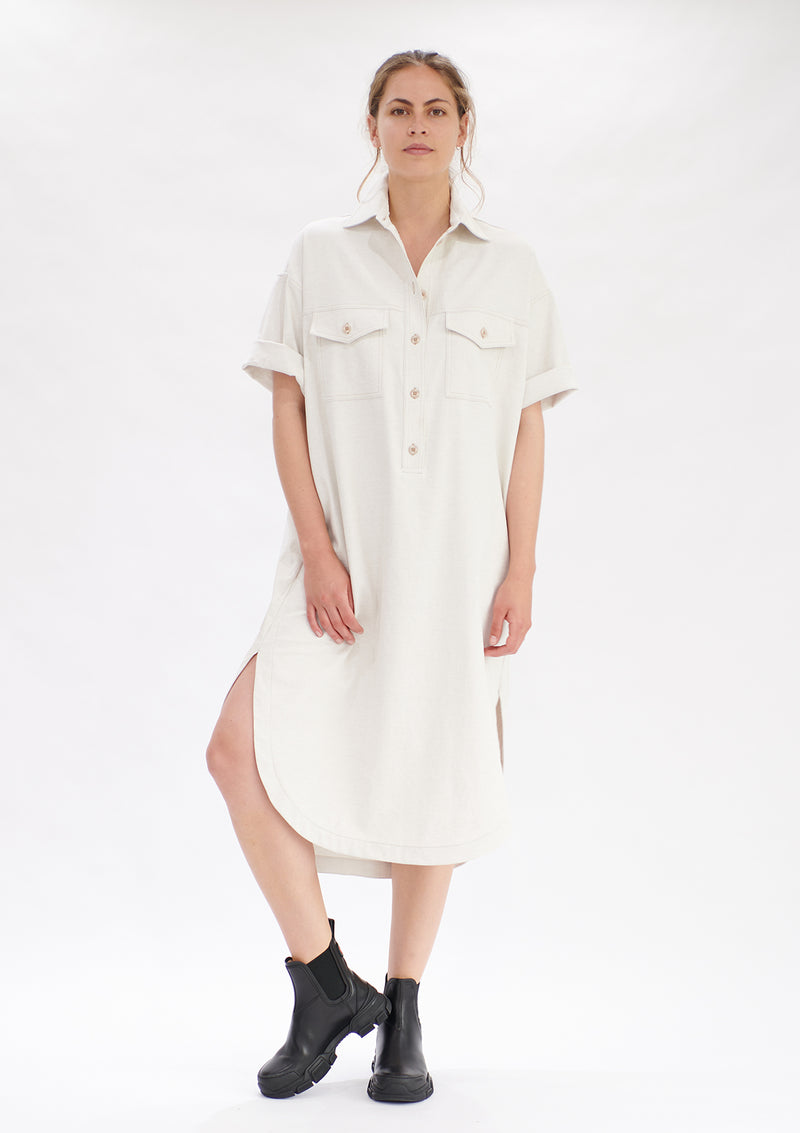 Mela Purdie Polished Canvas Shirtmaker Dress