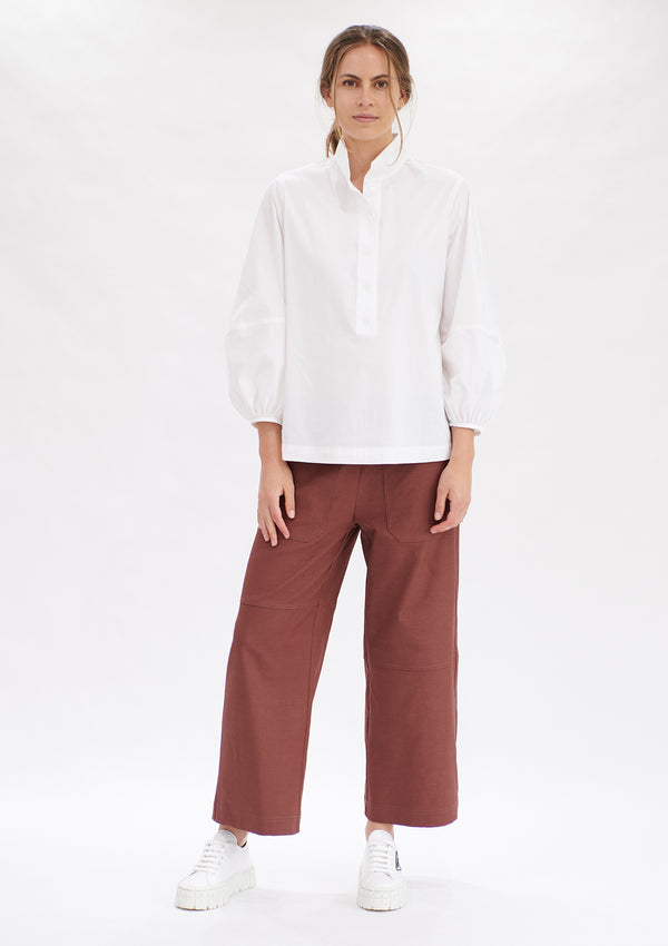 Mela Purdie Polished Canvas Quarter Panel Pant