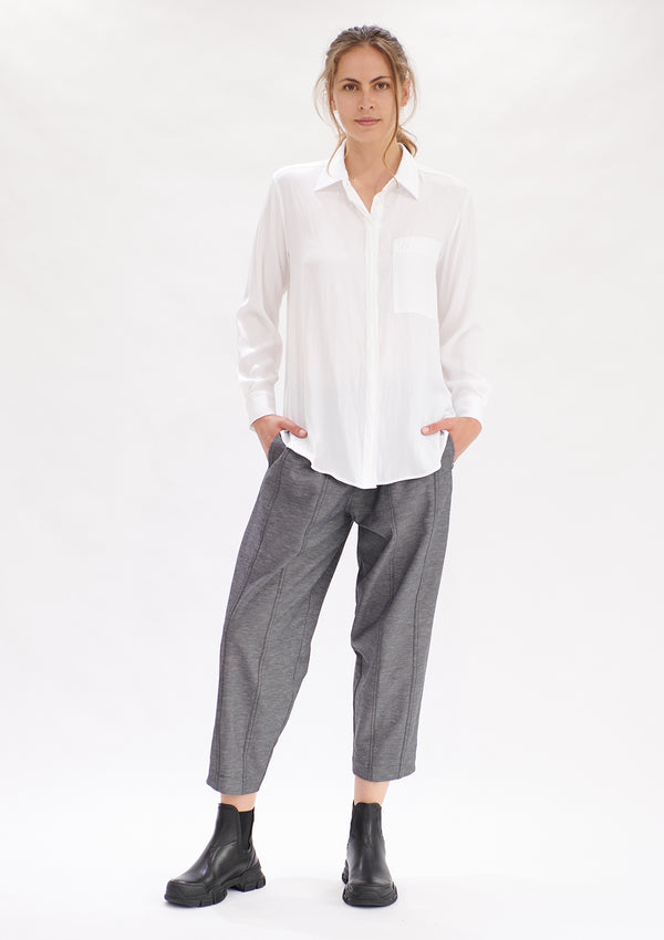 Mela Purdie Polished Canvas Stride Pant