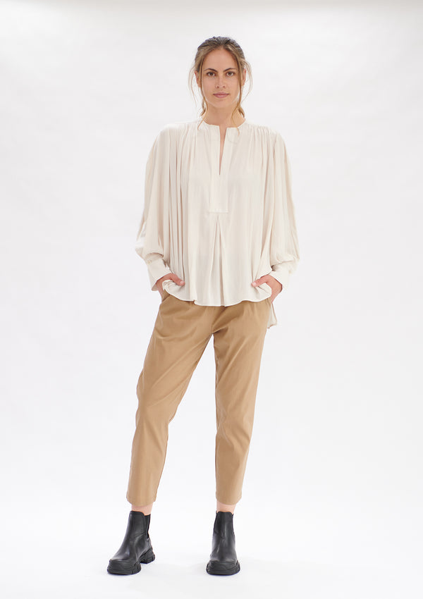 Mela Purdie Mache Saddle Blouse