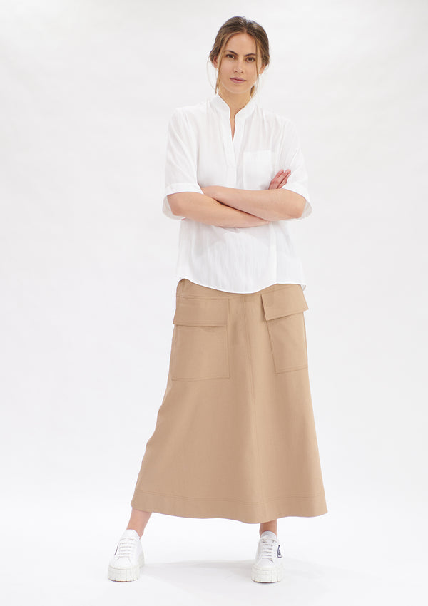 Mela Purdie Polished Canvas Duo Pocket Skirt