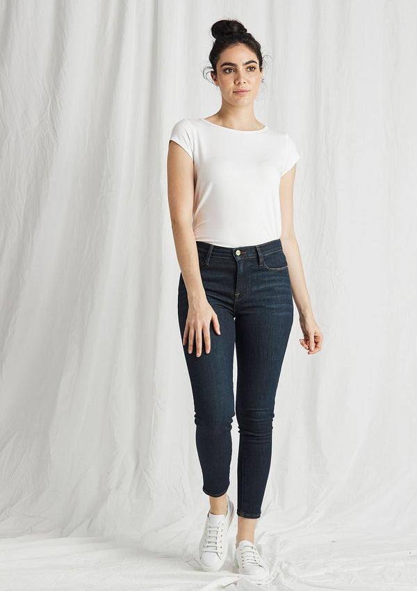 FRAME Le High Skinny Crop Jeans