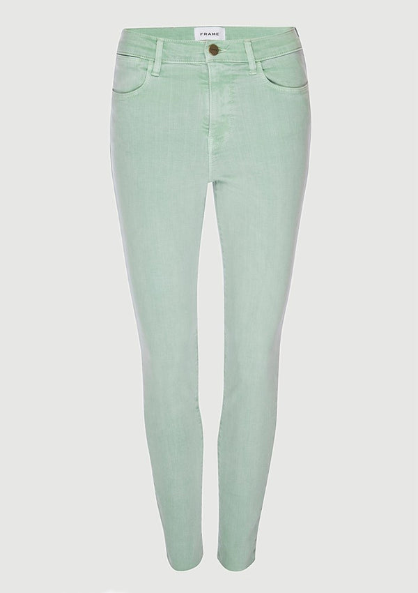 Frame Le High Skinny Raw Edge Cloud Jeans