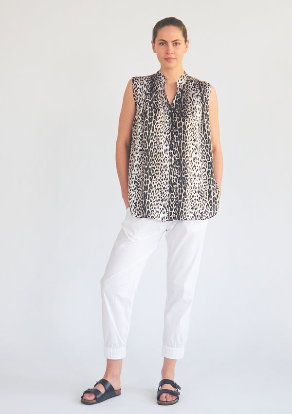 Mela Purdie Wild Stripe Animal Print Gravity Tank