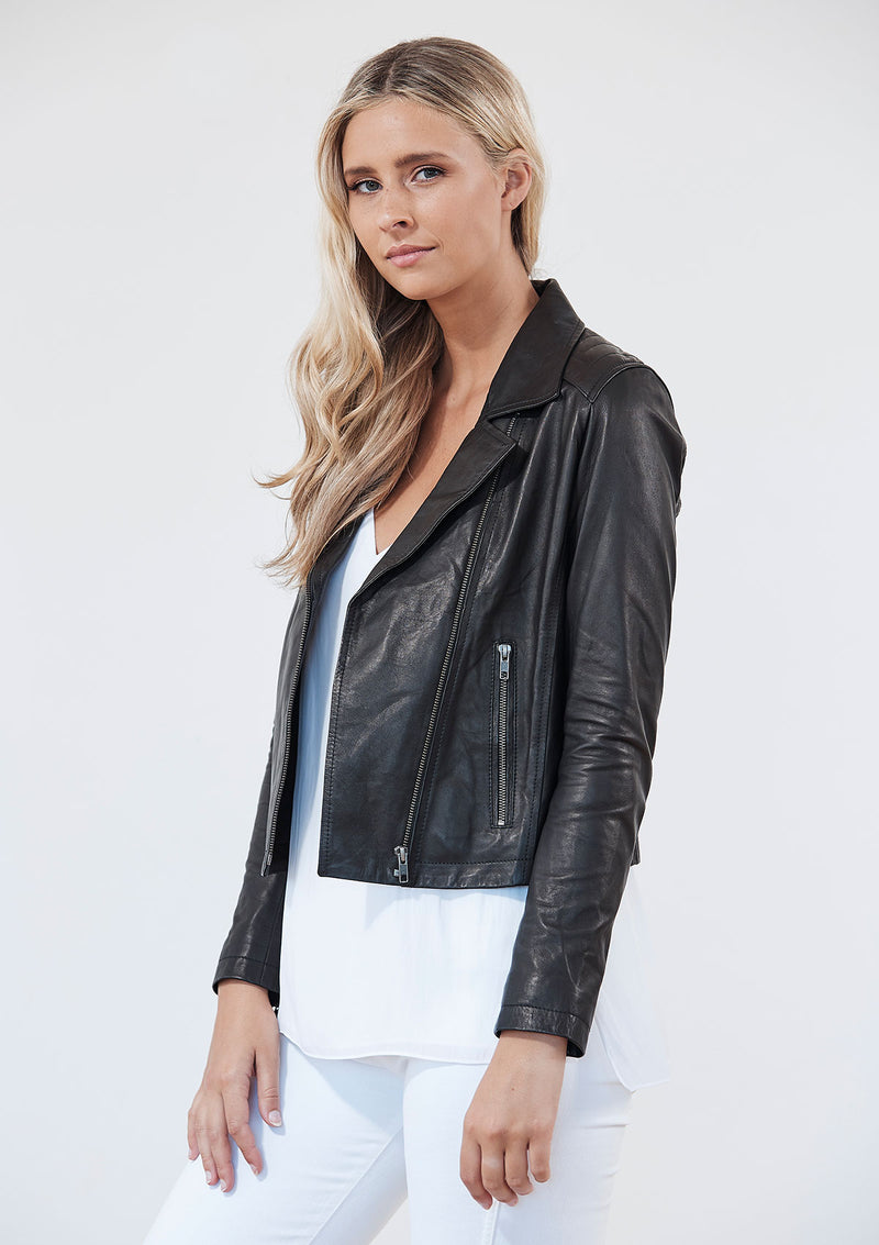Khlassik Leather Biker Jacket