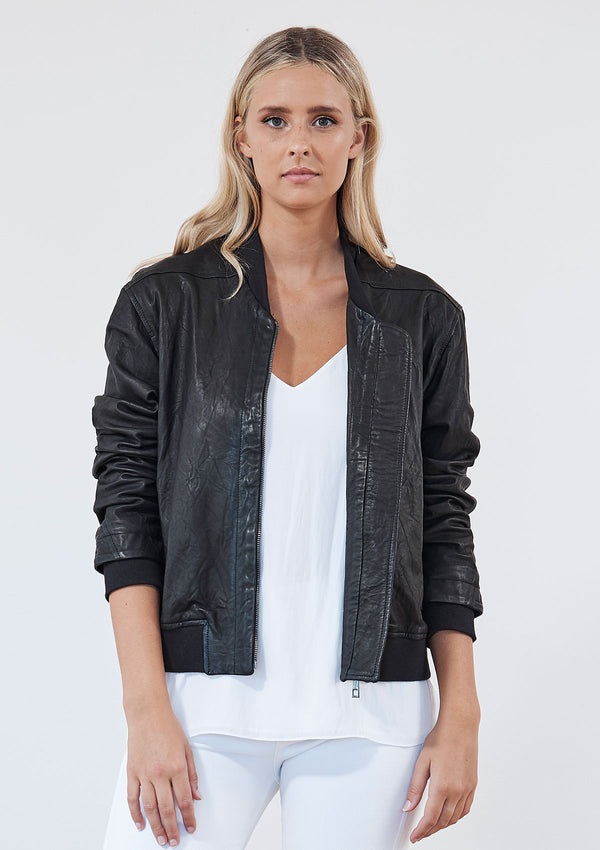 Khlassik Leather Bomber Jacket