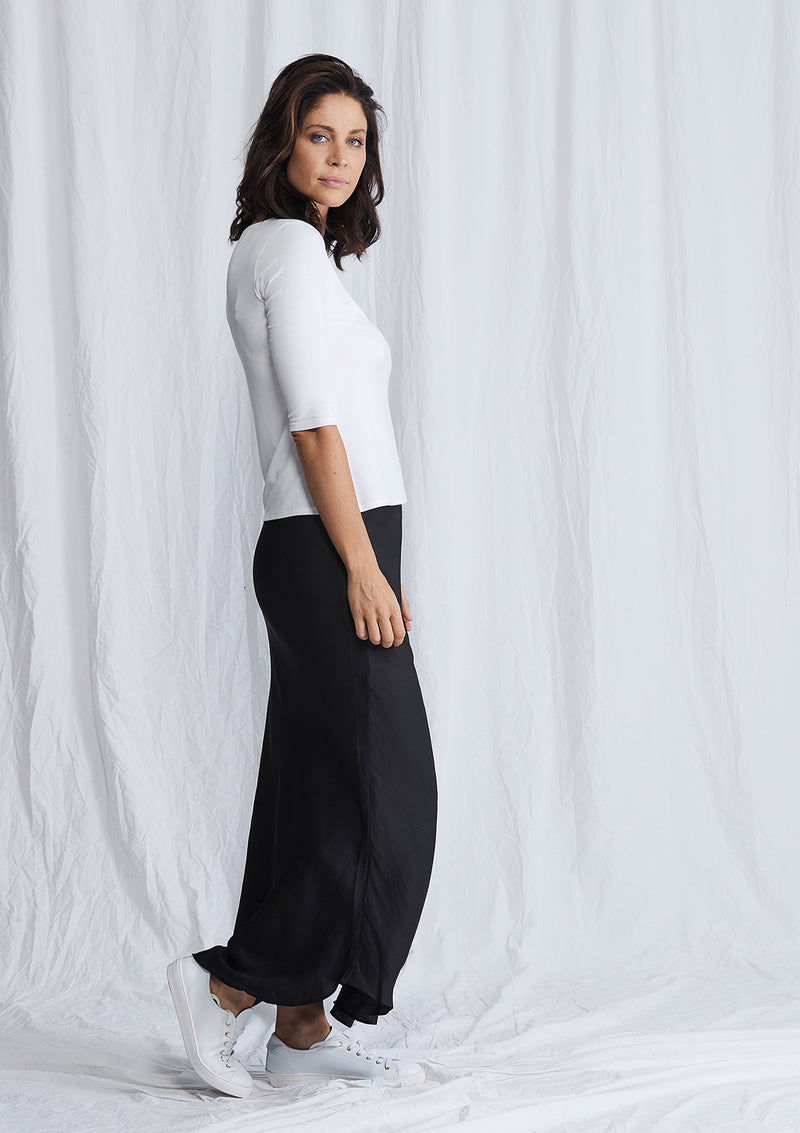 Luxe Deluxe Look Again Bias Cut Long Midi Skirt