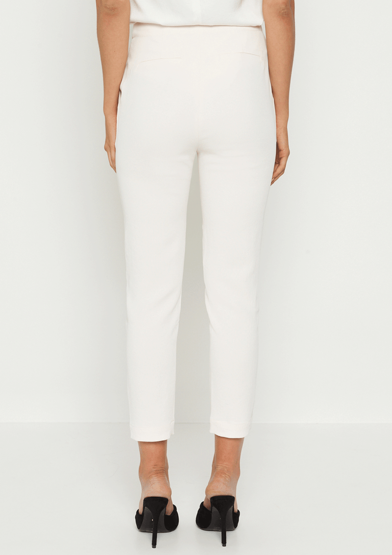 Luxe Deluxe Day-To-Night Drop Crotch Crop Tapered Pant Pastel Parchment