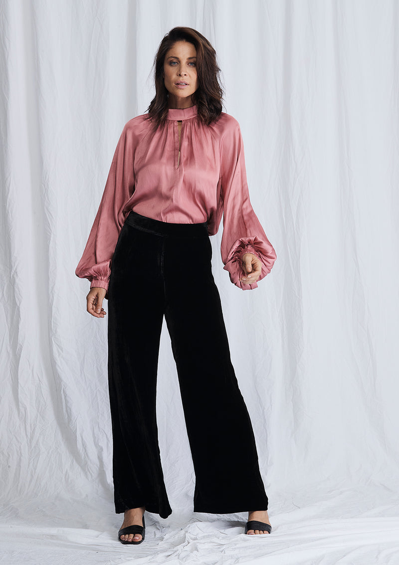 Luxe Deluxe First Love Velvet Wide Leg Pant