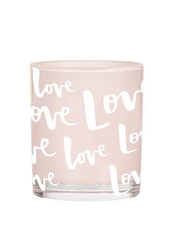 Damselfly Love Print Large Candle