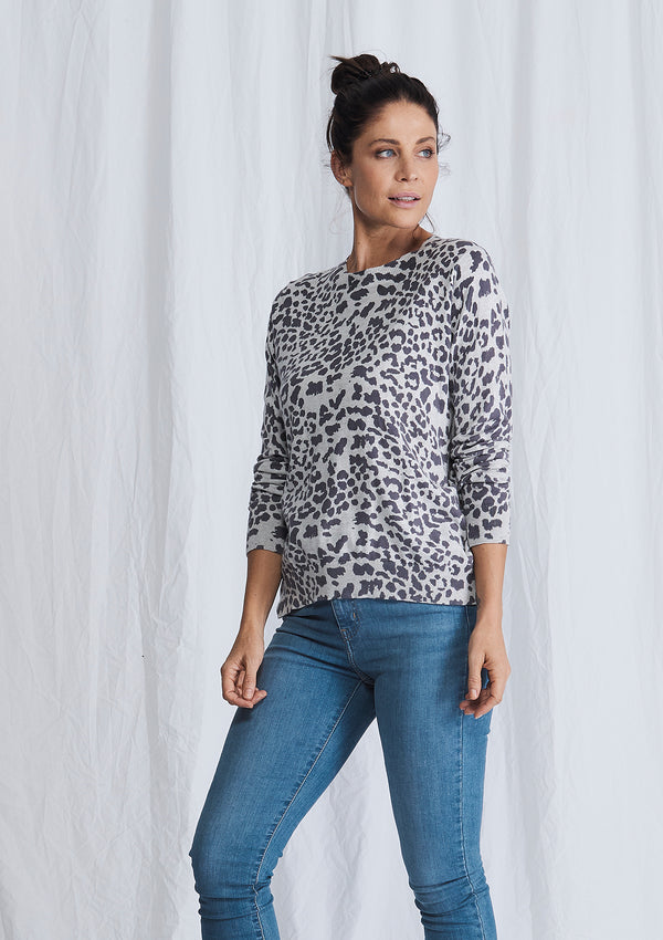 Alessandra Leopard Cindy Sweater