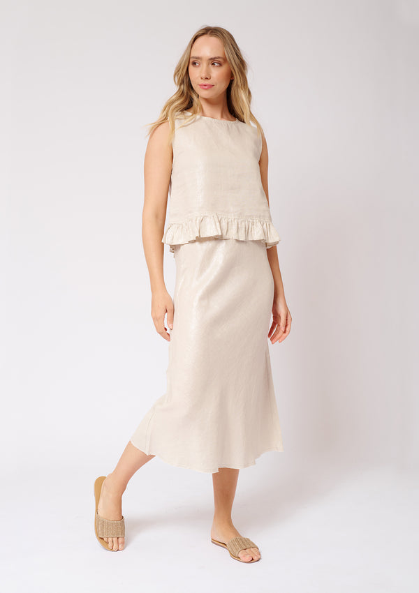 Alessandra Midi Bias Cut Skirt