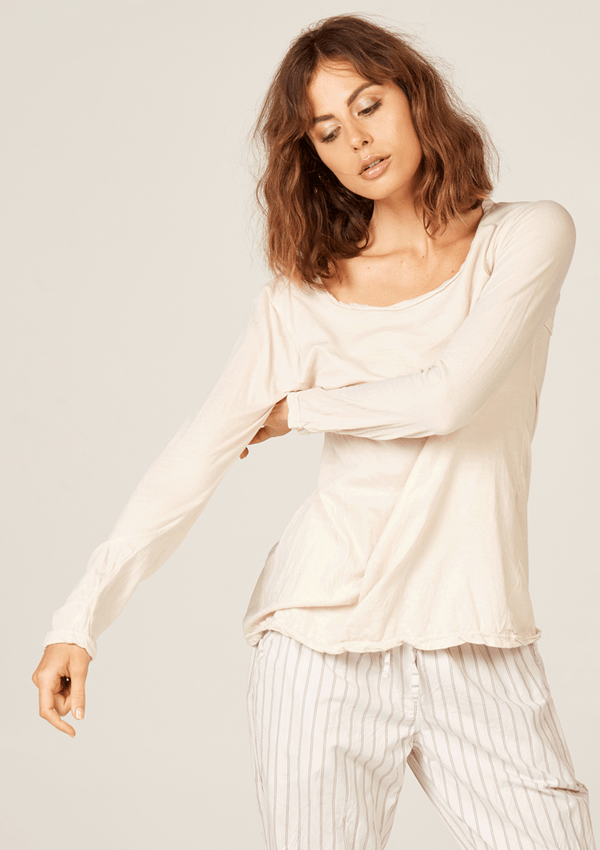 Primness Basic LS Tee Bisque