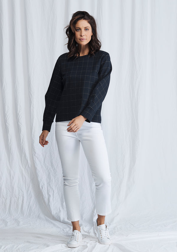 Mela Purdie Compact Check Knit Palais Sweater