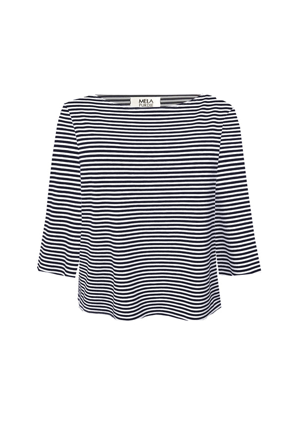 Mela Purdie Regatta Stripe Relaxed Boatneck