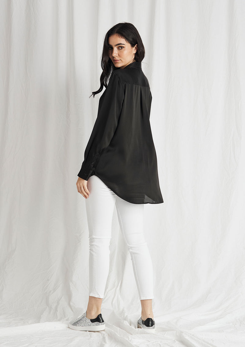 Mela Purdie Supreme Satin Soft Shirt