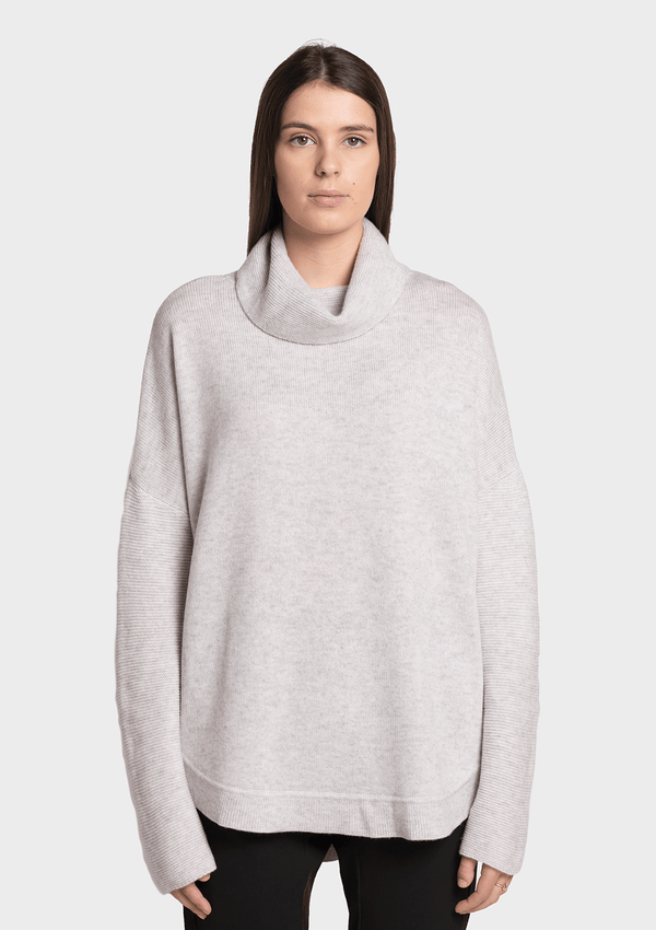 Birdie Tora Cashmere-Wool Rolled Turtleneck