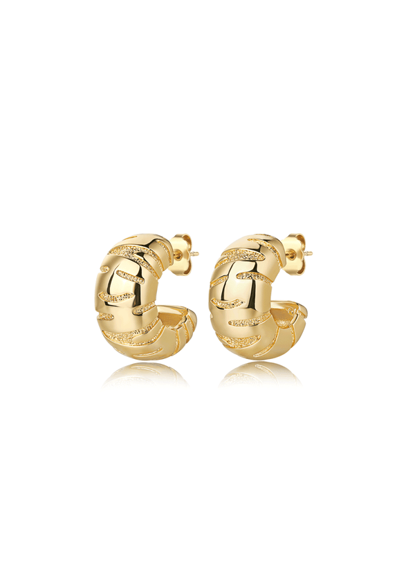 F+H Tiger Hoop Earrings