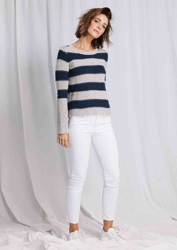 W&W Bell Sleeve Stripe Knit