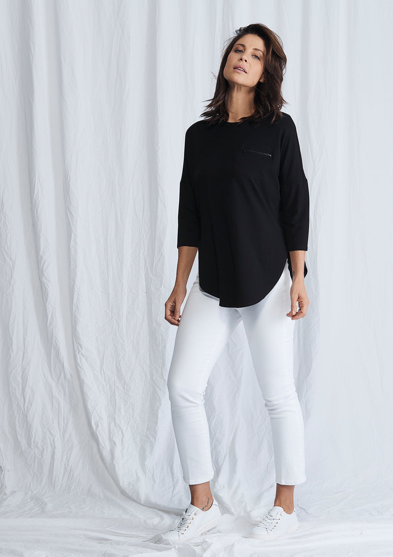 Mela Purdie Zip Crescent Sweater