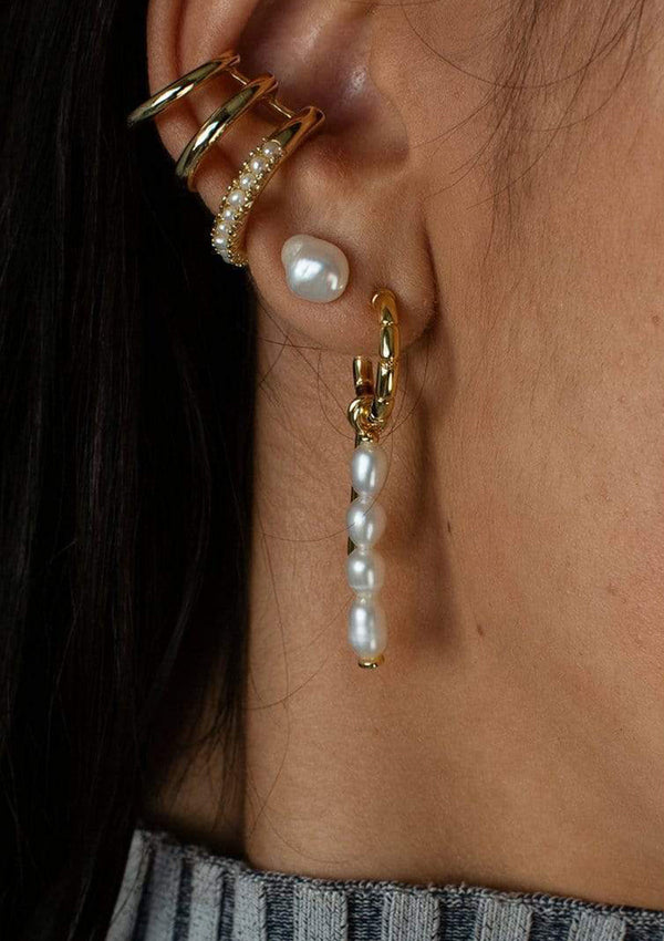 F+H Bonet Pearl Charm Earrings