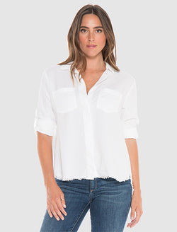 Bella Dahl Fray Hem Split Back Shirt