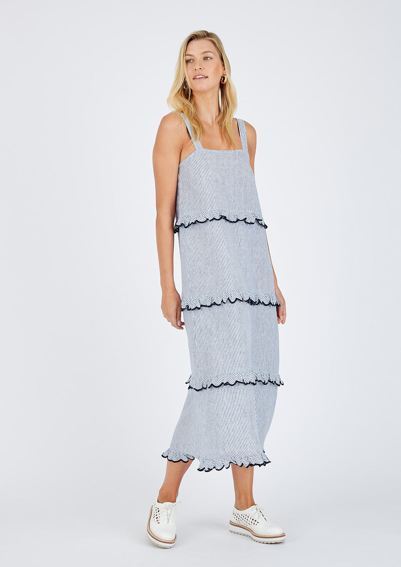 Alessandra Stripe Clementine Maxi Dress