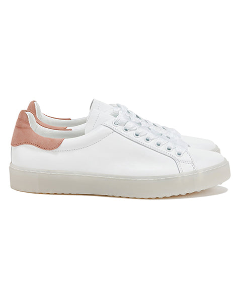 Department of Finery Melrose White/Rose Sneaker