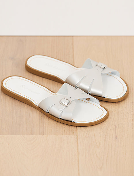 Salt Water Sandals Classic Slide Silver